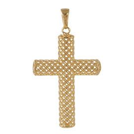 JCK Vegas Collection 9K Y Gold Cross Pendant - 1.4 Grams of 9K Gold