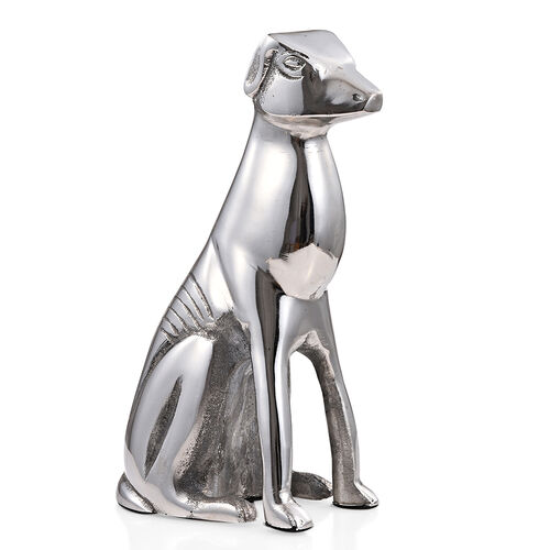 Handmade Metallic Greyhound Figurine (Size 20x10 Cm)