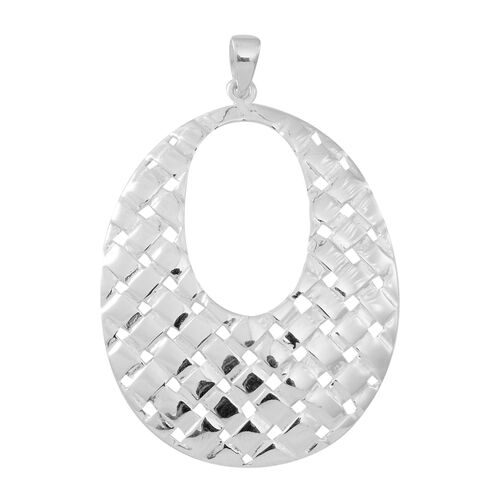 Vicenza Collection- Designer Inspired Sterling Silver Pendant, Silver wt 5.30 Gms.