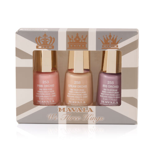 We Three Kings Trio - Cream Orchid - Pink Orchid 253, Cream Orchid 258 and Iris Orchid 255
