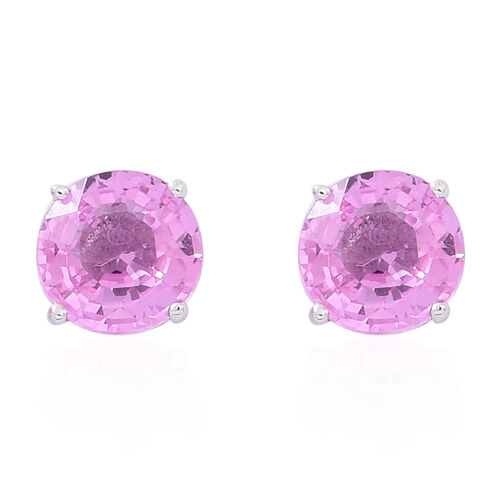 ILIANA 18K W Gold AAA Pink Sapphire (Rnd) Stud Earrings (with Screw Back) 1.000 Ct.