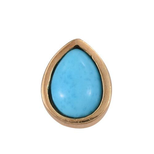 Arizona Sleeping Beauty Turquoise (Pear) Solitaire Pendant in 14K Gold Overlay Sterling Silver 0.650 Ct.