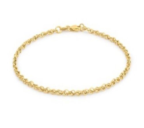 Close Out Deal Italian 9K Yellow Gold Diamond Cut Prince of Wales Bracelet (Size 7)