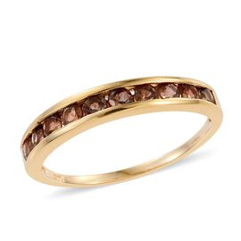Brazilian Andalusite (Rnd) Half Eternity Ring in 14K Gold Overlay Sterling Silver 1.000 Ct.
