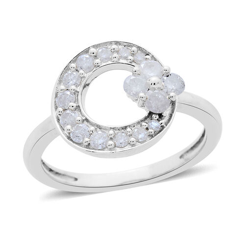 9K White Gold 0.50 Carat Diamond Circle Ring SGL Certified I3 G-H