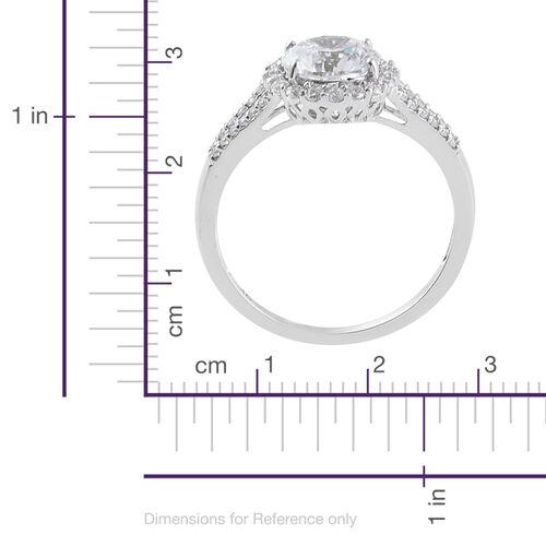 J Francis - 9K W Gold (Rnd) Ring Made with SWAROVSKI ZIRCONIA