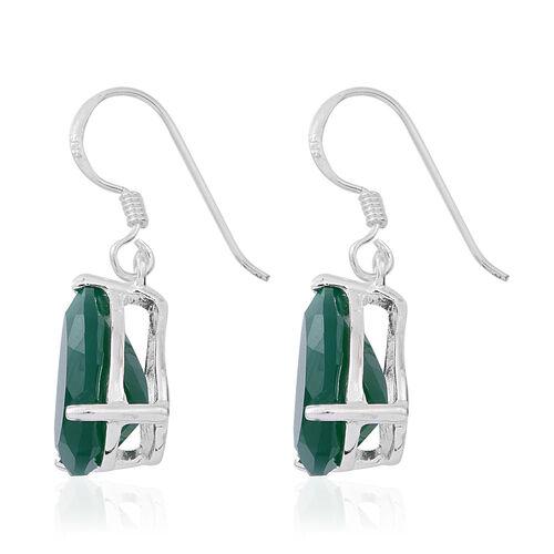 Verde Onyx (Pear) Hook Earrings in Sterling Silver 9.500 Ct.