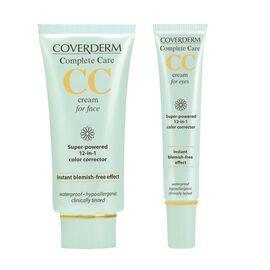 Coverderm: Complete Care CC Face Cream (Light Beige) - 40ml (With Free CC Eye Cream (Light Beige))