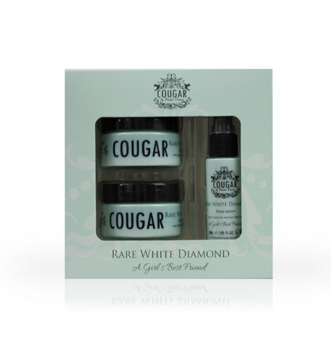 COUGAR- Rare White Diamond Set Pack- Rare White Diamond Day cream 50ml, Night cream 50ml and Facial serum 30ml