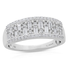 ILIANA 18K W Gold IGI Certified Diamond (Bgt) (SI/G-H) Ring 1.000 Ct.