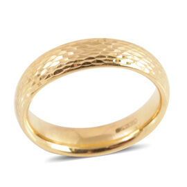 Designer Inspired Diamond Cut 9K Y Gold Band Ring