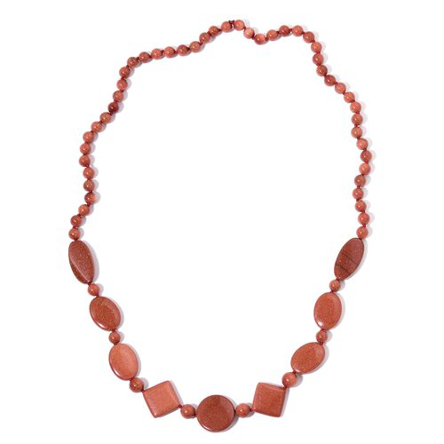 Limited Edition- Special Order- Hand Knotted Gold Sandstone Beads Necklace (Size 30) 400.00 Ct.