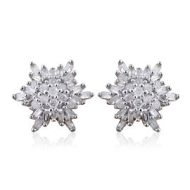 Diamond (Rnd) Stud Earrings (with Push Back) in 14K Gold Overlay Sterling Silver 0.250 Ct.