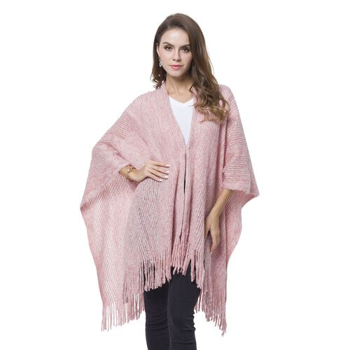 Pink and White Colour Kimono with Tassels (Free Size)