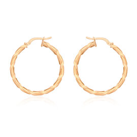 JCK Vegas Collection-9K R Gold Twisted Hoop Earrings (with Clasp)