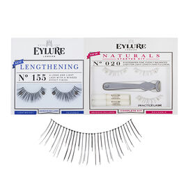 Eylure Starter Lash Set- No 020 Naturals Starter Kit Plus No 155 Lengthening Starter Kit