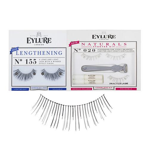 Eylure Starter Lash Set- No 020 Naturals Starter Kit Plus No 155 Lengthening Starter Kit