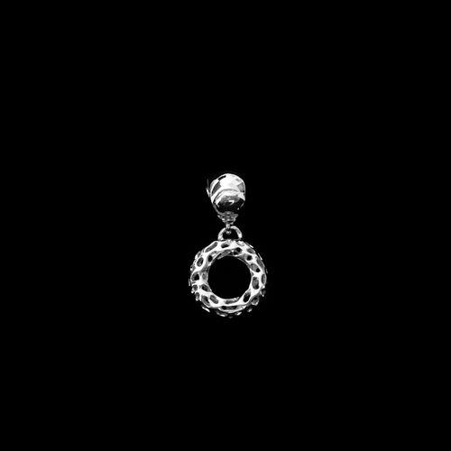 RACHEL GALLEY Rhodium Plated Sterling Silver Lattice Allegro Charm Pendant