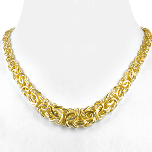 Vicenza Collection- 9K Yellow Gold Byzantine Chain (Size 17 with 3 inch Extender), Gold wt 11.40 Gms.