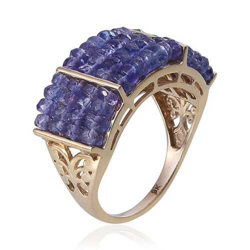 9K Y Gold Tanzanite (Rnd) Ring 15.000 Ct.