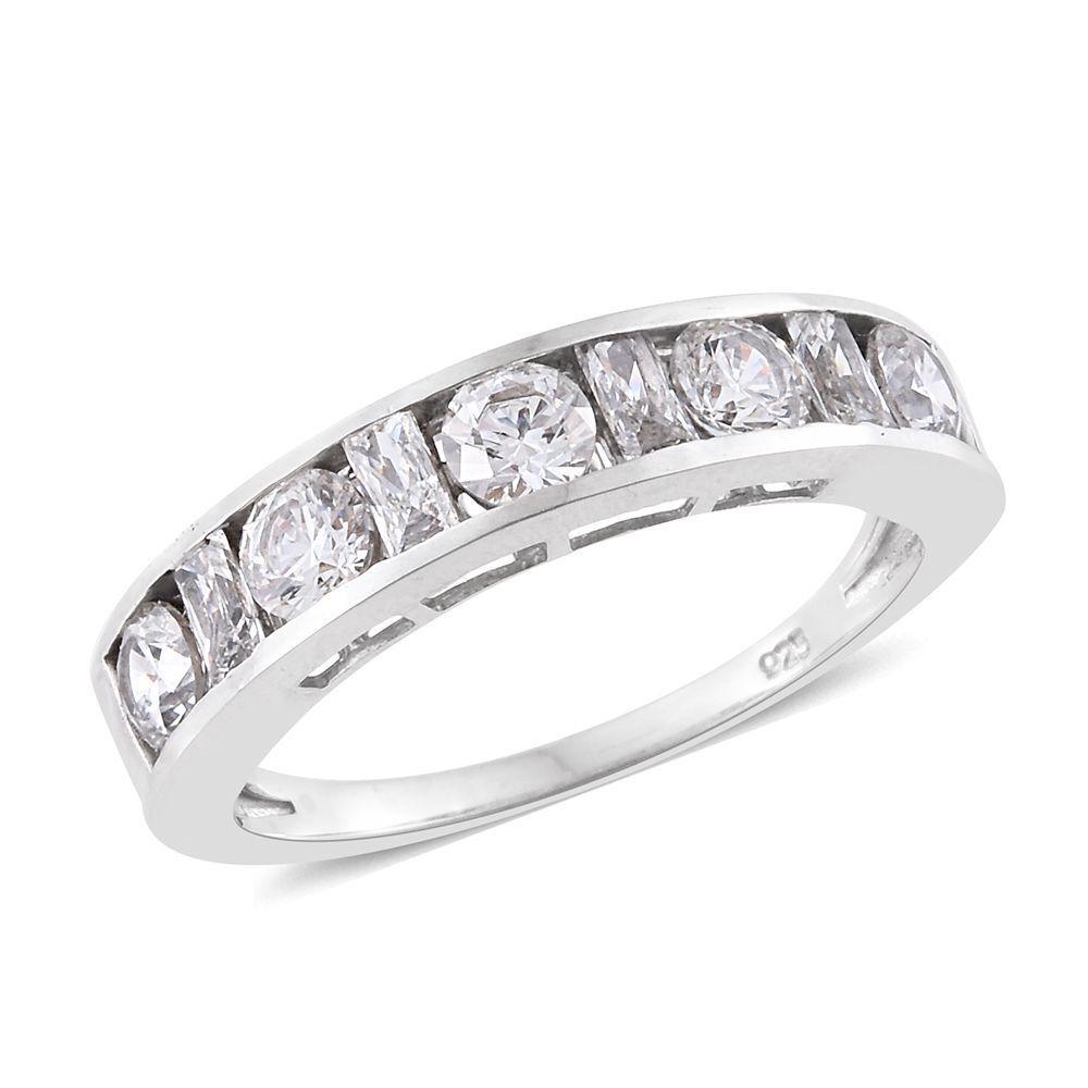 [Sponsored]TJC J Francis - Platinum Over Silver Rnd Ring made with Swarovski® Zirconia h9NRSIt