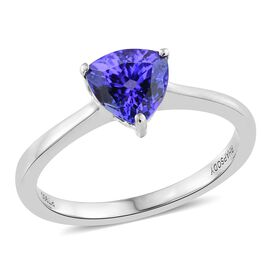 RHAPSODY 950 Platinum AAAA Tanzanite (Trl) Solitaire Ring 1.250 Ct.