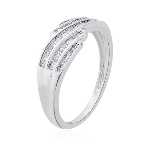 9K W Gold Diamond (Bgt) Ring 0.250 Ct.