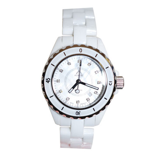 MONCHIC High Tech. Ceramic  Swiss Movement Sapphire Crystal Diamond Dial Watch  0.005  Ct.