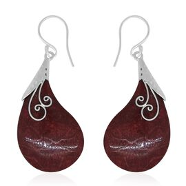 Royal Bali Collection Coral Hook Earrings in Sterling Silver
