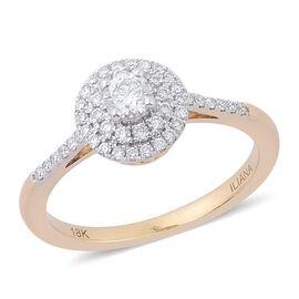 ILIANA 18K Yellow Gold IGI Certified Diamond (Rnd) (SI G-H) Engagement Ring 0.500 Ct.