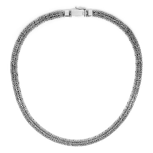 Royal Bali Collection Sterling Silver Borobudur Necklace (Size 19), Silver wt 80.51 Gms.