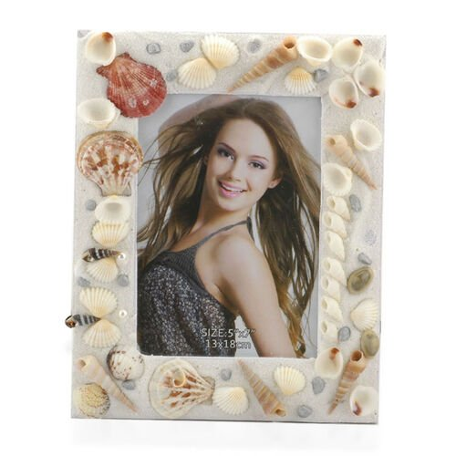 Set of 2 - Shell Photo Frames (Size 7x5 and 6x4 inch) 175.000 Ct.