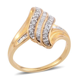 JCK Vegas Close Out Deal- 9K Y Gold Diamond (Rnd) Ring 0.330 Ct.