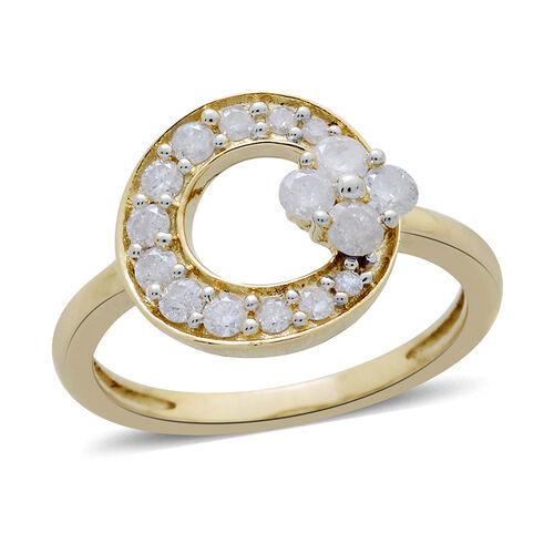9K Yellow Gold 0.50 Carat Diamond Circle Ring SGL Certified I3 G-H