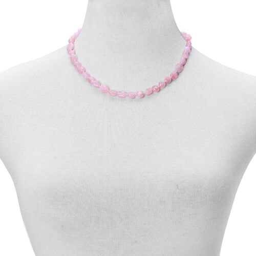 Rare Pink Morganite Necklace (Size 18 with 2 inch Extender) in Sterling Silver 120.000 Ct.