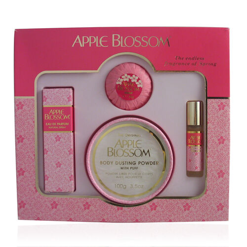 Apple Blossom Gift Set Perfume 30ml Talc 100g Roll-on 10ml Soap 50g