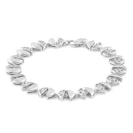 RACHEL GALLEY Rhodium Plated Sterling Silver ECLIPSE Bracelet (Size 8), Silver wt. 14.76 Gms.