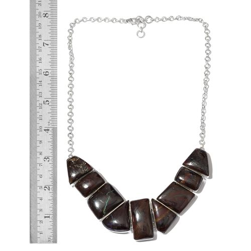 Boulder Opal Rock Necklace (Size 18 with 1 inch Extender) in Sterling Silver 279.550 Ct.