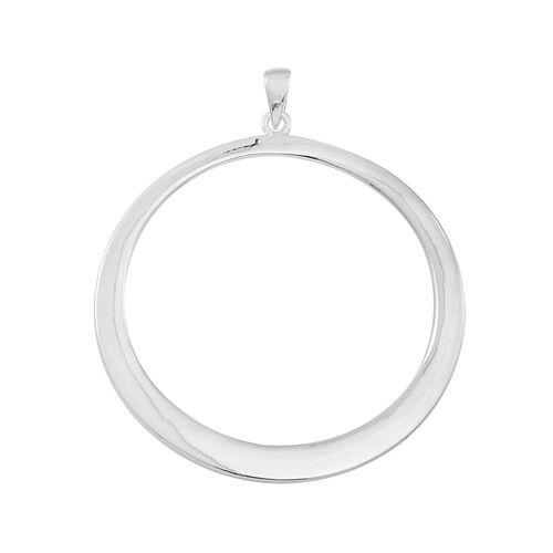 Thai Sterling Silver Circle Pendant, Silver wt 7.01 Gms.