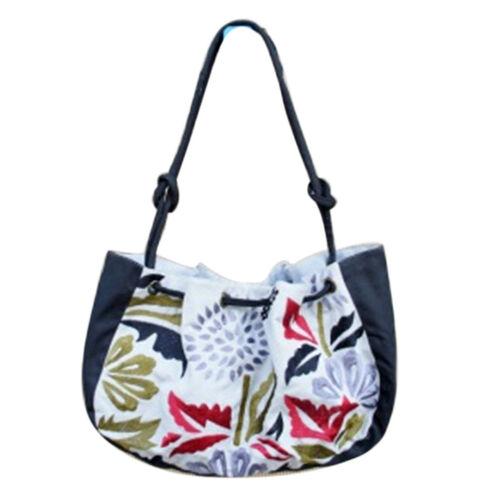 Bali Collection Floral Print Navy Shoulder Bag
