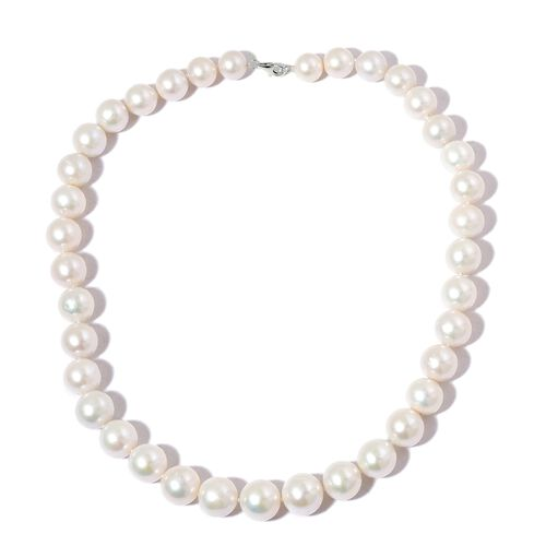Collectors Edition- RHAPSODY 950 Platinum AAAAA Rare Top Lustre Round Edison Pearl Necklace (Size 20)