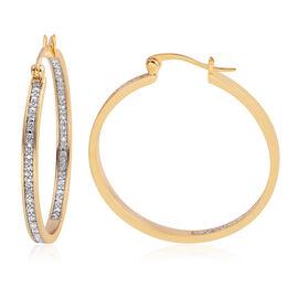 Diamond (Rnd) Earrings in Gold Plated
