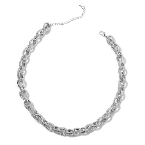 Necklace (Size 18) in Silver Tone