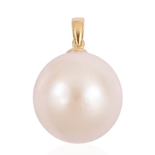 ILIANA 18K Yellow Gold Very Rare AAAA Edison Pearl (Rnd 14-15mm) Pendant