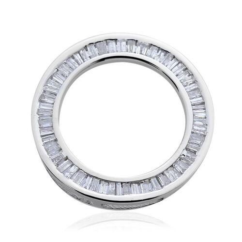 9K W Gold SGL Certified Diamond (Bgt) (I3/G-H) Circle of Life Pendant 0.500 Ct.