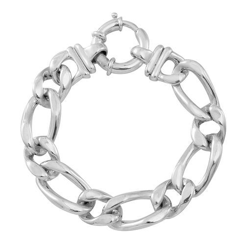 Statement Collection Sterling Silver Curb Bracelet (Size 8), Silver wt 21.50 Gms.