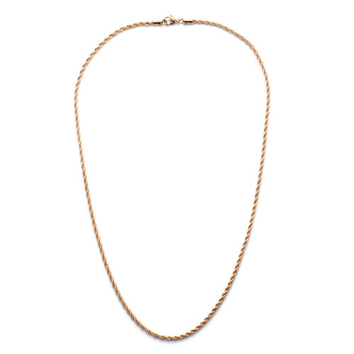 ION Plated Rose Gold Stainless Steel Necklace (Size 24)