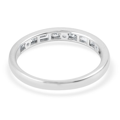 RHAPSODY 0.50 Carat Diamond (VS/E-F) Half Eternity Band Ring  in 950 Platinum