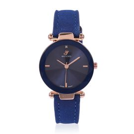 Diamond (Rd 1.3mm) Faceted Glass Constellation Stainless Steel Watch - Blue