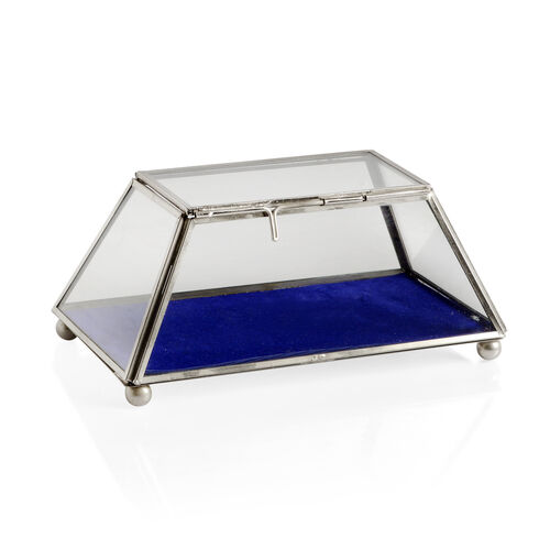 (Option 1) Vintage Glass Jewellery and Display Box (Size 20x8 Cm)